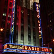 Radio City Music Hall Cirque Du Soleil Zarkana Art Print