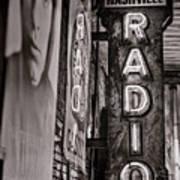 Radio Nashville - Monochrome Art Print