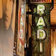 Radio Nashville Sign Art Print