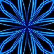 Radioactive Snowflake Blue Art Print
