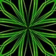Radioactive Snowflake Green Art Print