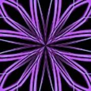 Radioactive Snowflake Purple Art Print