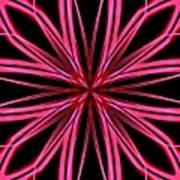 Radioactive Snowflake Red Art Print
