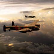 Raf Lancaster And Spitfire Art Print