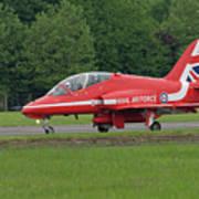 Raf Red Arrows Jet Lands Art Print