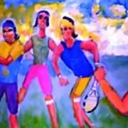 Rafa Tennis At The French Wimbleton And U.s. Open Print by Stanley Morganstein