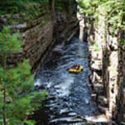 Rafting In A Gorge Art Print