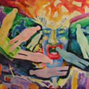 Rage Of Depression Art Print
