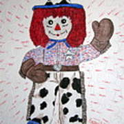 Raggedy Andy Cowboy Art Print