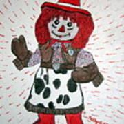 Raggedy Ann Cowgirl Art Print