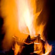 Raging Bonfire Art Print
