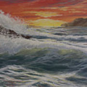 Raging Surf Art Print