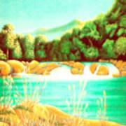 Rai Valley Falls Si Nz Art Print by Barbara Stirrup