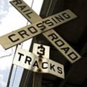 Rail Road Sign Art Print