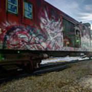 Railcar Graffiti Art Print