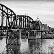 Railroad Bridge -bw Art Print