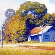 Railroad Crossing Art Print