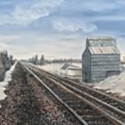 Railroad Going North  Art Print