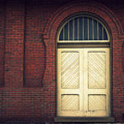 Railroad Museum Door Art Print