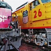 Railroad Museum Triptych Art Print by Steve Ohlsen