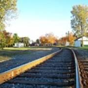 Railroad S-curve Art Print