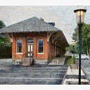 Railroad Station Art Print