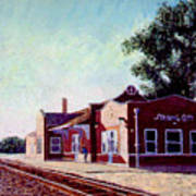 Railroad Station Print by Stan Hamilton