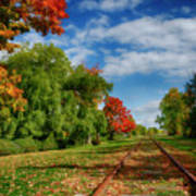 Railroad Tracks At Grand-pre National Historic Site Art Print
