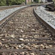 Railroad Tracks Art Print by Danielle Allard