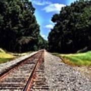 East Texas Tracks Art Print
