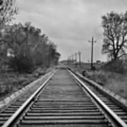 Railroad Tracks Print by Matthew Angelo