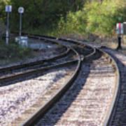 Railroads Merging Art Print by Richard Mitchell