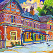 Railway Station In Lednice Art Print