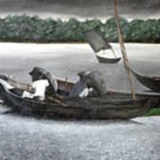 Rain In Bangladesh- An Acrylic Painting Art Print
