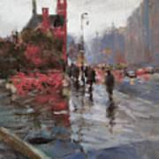Rain On Sixth Avenue Art Print
