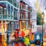 Rain On St. Peter Street Art Print
