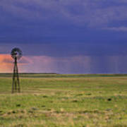 Rain On The Plains Art Print