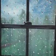 Rain On The Window Art Print