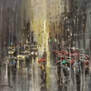 Rain On Wisconsin Avenue Art Print