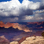 Rain Over The Grand Canyon Art Print