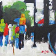 Rain People Art Print