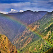 Rainbow Across Canyon Art Print