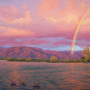 Rainbow At Sunset Art Print
