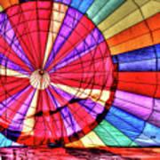 Rainbow Balloon Art Print
