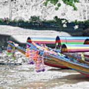 Rainbow Boats Thailand Photo Art Art Print