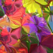 Rainbow Bouquet Art Print