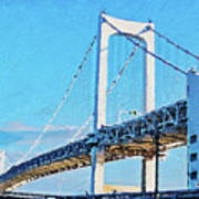 Rainbow Bridge In Tokyo Art Print