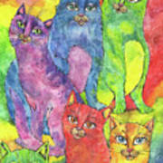 Rainbow Cats 2017 07 01 Art Print