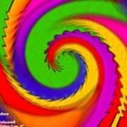Rainbow Coloured Cock Swirl H A Art Print