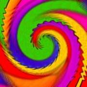 Rainbow Coloured Cock Swirl H B Art Print